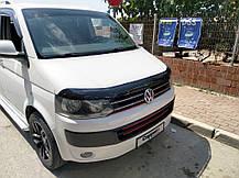 Дефлектор капота (EuroCap) Volkswagen T5 рестайлинг 2010-2015 гг. Фольксваген Транспортер, фото 3