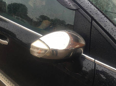 Накладки на зеркала (2 шт, нерж.) Ford Galaxy 2008↗ гг. Форд Галакси, фото 2