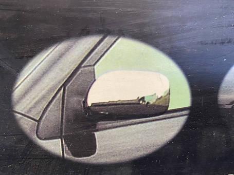 Накладки на зеркала (2 шт, пласт.) Toyota Corolla 2002-2007 гг. Тойота Королла, фото 2