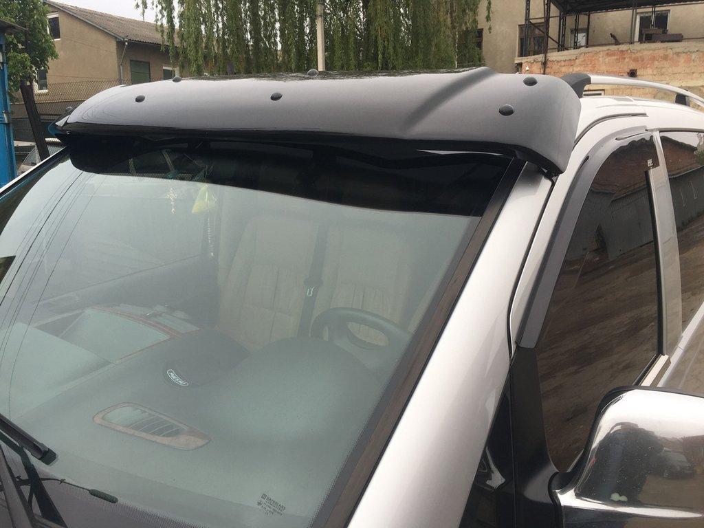 Козырек на лобовое стекло (черный глянец, 5мм) Mercedes Vito W639 2004-2015 гг. Мерседес Бенц Вито W639