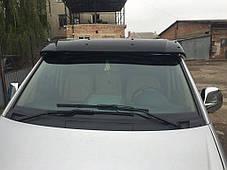 Козырек на лобовое стекло (черный глянец, 5мм) Mercedes Vito W639 2004-2015 гг. Мерседес Бенц Вито W639, фото 2
