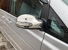 Накладки на зеркала VIANO 2004-2010 (2 шт, нерж) Mercedes Viano 2004-2015 гг. Мерседес Бенц Виано, фото 2