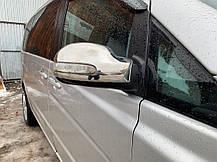 Накладки на зеркала VIANO 2004-2010 (2 шт, нерж) Mercedes Viano 2004-2015 гг. Мерседес Бенц Виано, фото 3