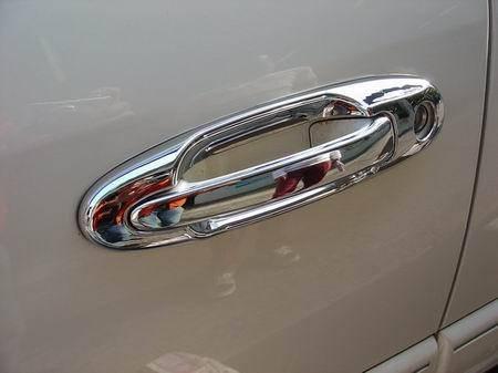 Накладки на ручки + вокруг (8 шт, пласт.) Lexus LX470 Лексус LX470, фото 2