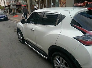Nissan Juke Накладки на ручки Кармос с чипом Ниссан Жук, фото 2