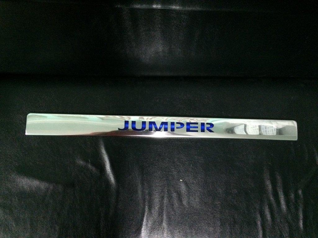 Хром планка над номером LED-синий (нерж.) Citroen Jumper 2007↗ и 2014↗ гг. Ситроен Джампер