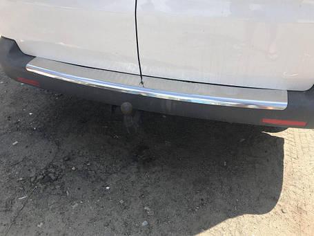 Volkswagen T5 2010-2015 Накладка на задний бампер Кармос без надписи Фольксваген Транспортер, фото 2