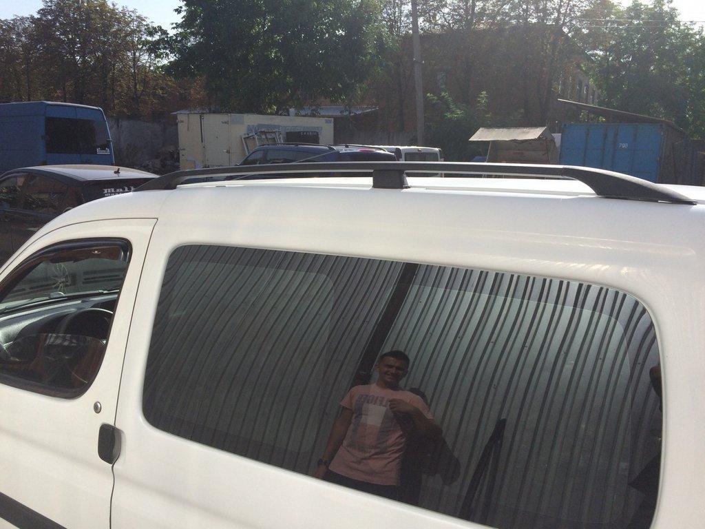 Citroen Berlingo Рейлинги черные с пластиковой ножкой, под клей Ситроен Берлинго
