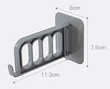 Тримач для вішалок для плічок і дрібничок 11.3*6*7.5 см, фото 5