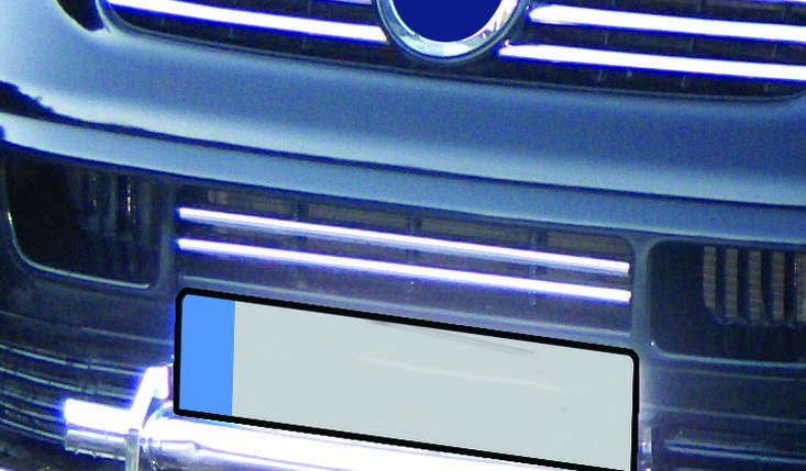 T5 Transporter Накладки на решетку бампера Carmos Фольксваген Т5 (Транспортер), фото 2