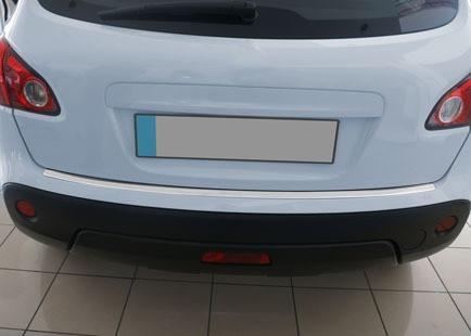 Nissan Qashqai 2010-2014 Накладки на задний бампер матовая (база стандарт) Ниссан Кашкай
