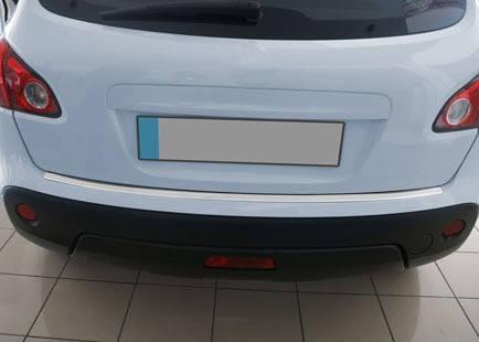 Nissan Qashqai 2010-2014 Накладки на задний бампер матовая (база стандарт) Ниссан Кашкай, фото 2