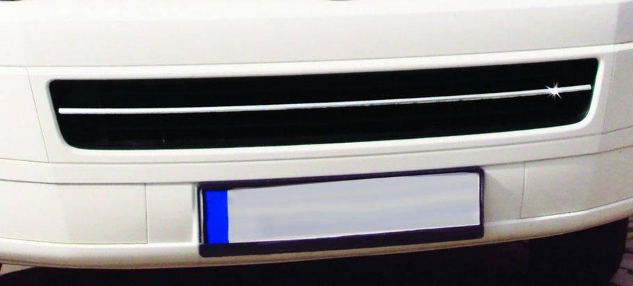 T5 Caravelle Накладка на решетку бампера OmsaLine Фольксваген Каравелла, фото 2