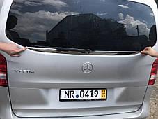 Кромка заднего стекла (нерж) Mercedes Vito Мерседес Бенц Вито, фото 2