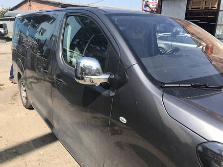 Toyota Proace 2017↗ гг. Накладки на зеркала (2 шт., пласт.) Carmos Тойота Проэйс, фото 2