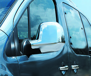 Peugeot Traveller 2017↗ гг. Накладки на зеркала (2 шт., пласт.) Carmos Пежо Травеллер, фото 2