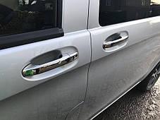 Mercedes Vito 2014 Накладки на ручки Кармос нержавейка без чипа Мерседес Бенц Вито, фото 3