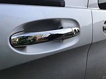 Mercedes Vito 2014 Накладки на ручки Кармос нержавейка без чипа Мерседес Бенц Вито, фото 2