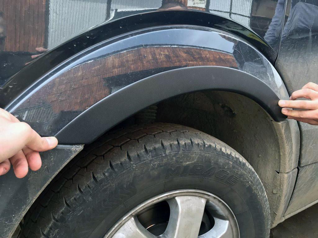 Накладки на арки узкие (4 шт, черные) Volkswagen Crafter 2006-2017 гг. Фольксваген Крафтер