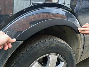 Накладки на арки узкие (4 шт, черные) Volkswagen Crafter 2006-2017 гг. Фольксваген Крафтер, фото 2