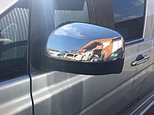 Mercedes Vito 639 2010↗ Хром Накладки на зеркала OmsaLine пластик Мерседес Бенц Вито W639, фото 2