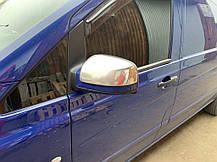 Mercedes Vito 639 2010↗ Хром Накладки на зеркала OmsaLine пластик Мерседес Бенц Вито W639, фото 3