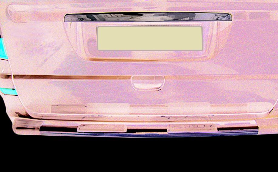 Mercedes Viano Хром планка над номером Кармос Мерседес Бенц Виано