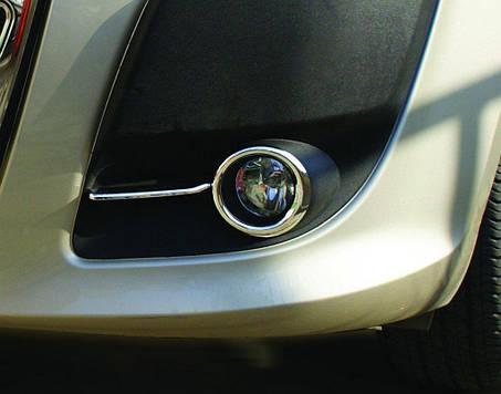Fiat Doblo 2010-2014 Окантовка противотуманок OmsaLine Фиат Добло, фото 2