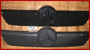 Mercedes Sprinter 2002-2006 Зимняя накладка на решетку глянцевая Мерседес Бенц Спринтер, фото 2
