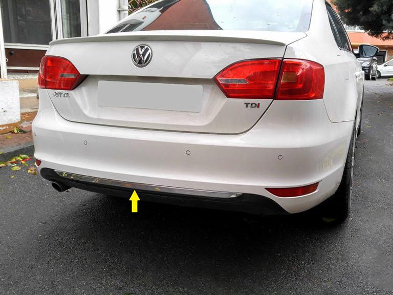 Кромка бампера (нерж) Volkswagen Jetta 2011-2018 гг. Фольксваген Джетта