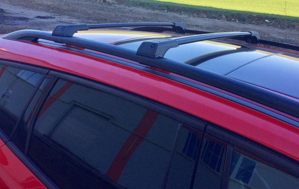 Toyota Proace 2017↗ Перемычки на рейлинги без ключа (2 шт) Серый Тойота Проэйс