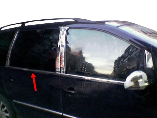 Ford Galaxy 1995-2010 Молдинг стекол нержавейка Carmos Форд Галакси