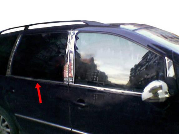 Ford Galaxy 1995-2010 Молдинг стекол нержавейка Carmos Форд Галакси, фото 2