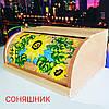 Хлебница с росписью . Подсолнух . 37*27*17 см.