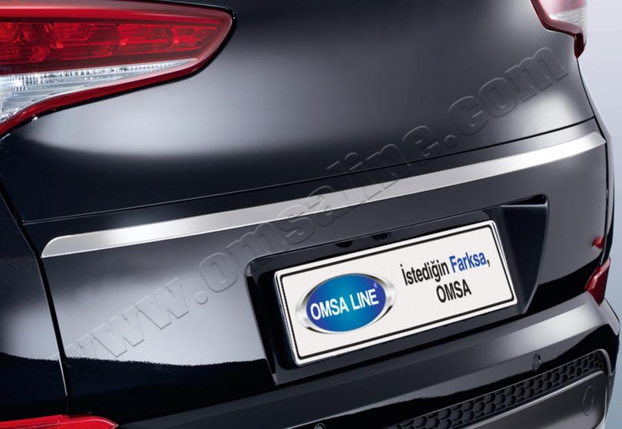 Hyundai Tucson 2015↗ Хром планка над номером узкая Carmos Хюндай Туксон