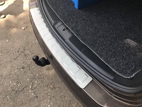 Накладка на задний бампер Carmos (нерж) Ford Galaxy 2008↗ гг. Форд Галакси, фото 2