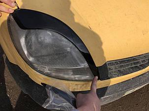 Renault Kangoo 1998-2008 Реснички (2 шт, Черный глянец) Рено Кенго, фото 2