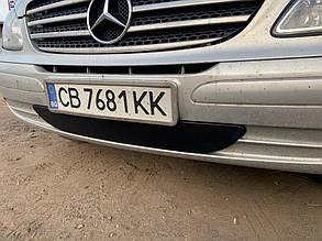 Mercedes Vito W639 2003-2010 Нижняя зимняя накладка на бампер (глянец) Мерседес Бенц Вито W639, фото 2