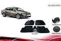 Резиновые коврики (4 шт, Niken 3D) Volkswagen Passat B6 2006-2012 гг. Фольксваген Пассат Б6