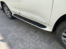 Комплект дверных молдингов (2016-2020) Toyota LC 200 Тойота Ленд Крузер 200, фото 2