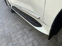 Комплект дверных молдингов (2016-2020) Toyota LC 200 Тойота Ленд Крузер 200, фото 3