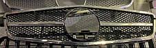 Передняя решетка Diamond Mercedes C-Klass W204 Мерседес Бенц Ц-класс W204, фото 3