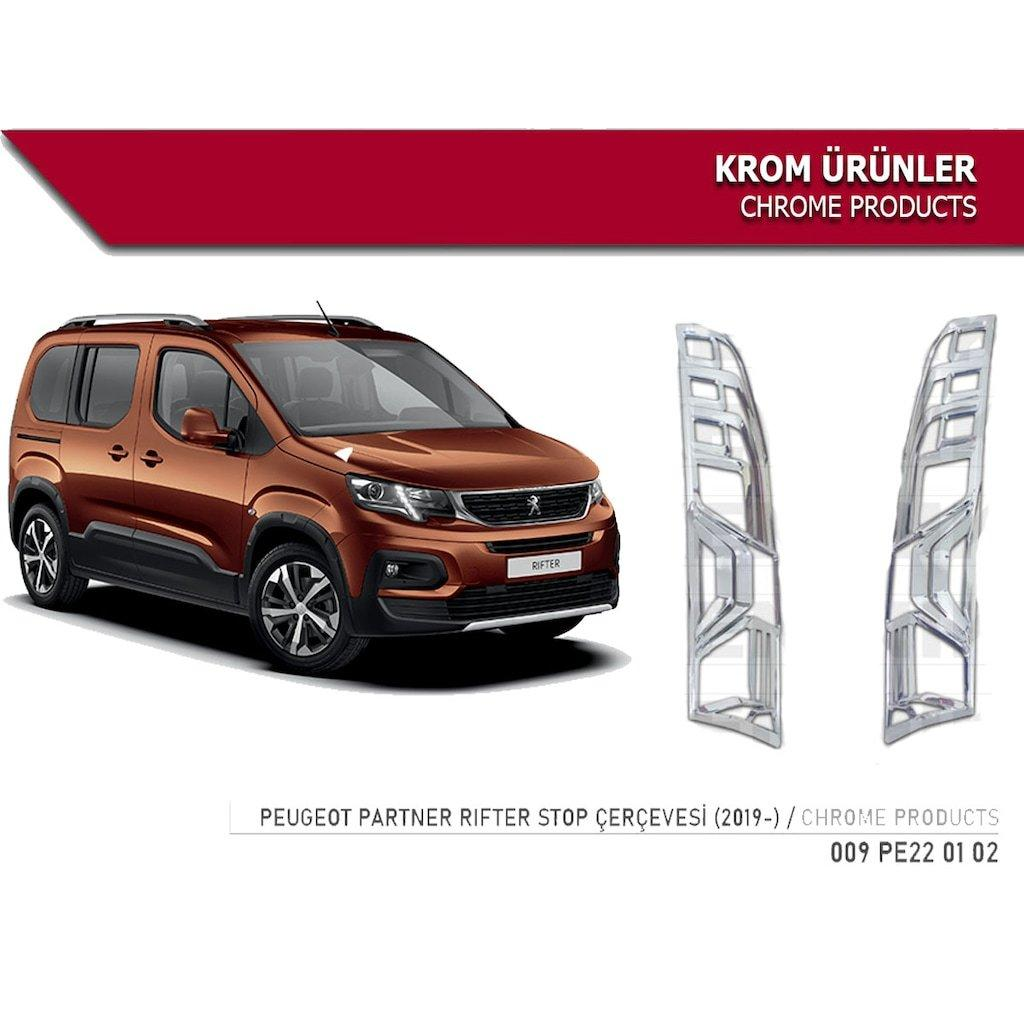 Накладки на стопы (2 шт, ABS) Peugeot Partner/Rifter 2019↗ гг. Пежо Partner/Rifter