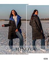 Демисезонная двусторонняя куртка женская, больших размеров  от 50 до 60, фото 3