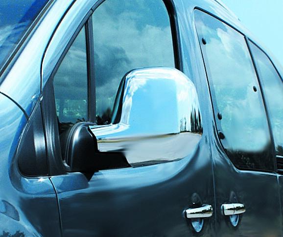 Citroen Berlingo 2019+ Накладки на зеркала хромированный пластик Carmos Ситроен Берлинго Мультиспейс