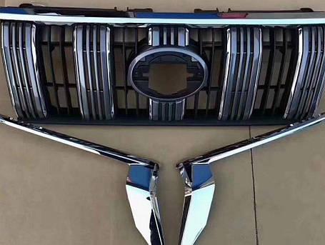Toyota LC150 Стандартная решетка с хром 2017↗ Тойота Ленд Крузер Прадо LC 150, фото 2