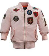 Дитячий бомбер Top Gun Kids MA-1 Aviator Bomber TGKMA-1 (Light Pink)
