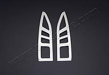 Окантовка на стопы Citroen Berlingo (сталь, 2 шт) Ситроен Берлинго, фото 2