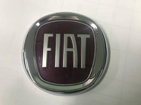 Fiat Doblo передняя эмблема красная 75 мм Фиат Добло, фото 2