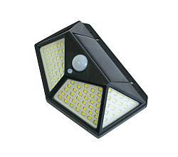 Вуличний led світильник-ліхтар на сонячній батареї з датчиком руху CL-100, вуличний ліхтар